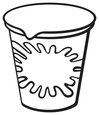 frozen food: plastic container for yogurt Illustration