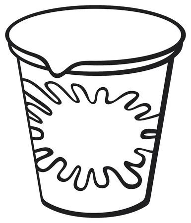 caja de leche: recipiente de plástico para el yogur