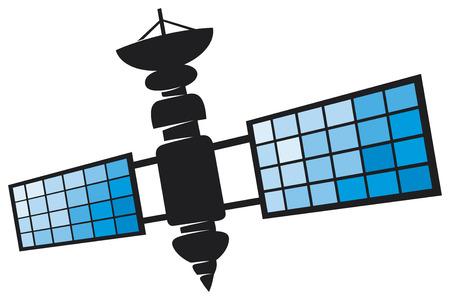 satélite Ilustración de vector