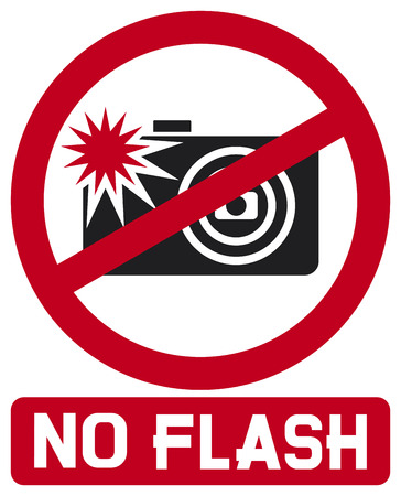 no flash sign  no flash photo icon, no photography with flash sign  Vector
