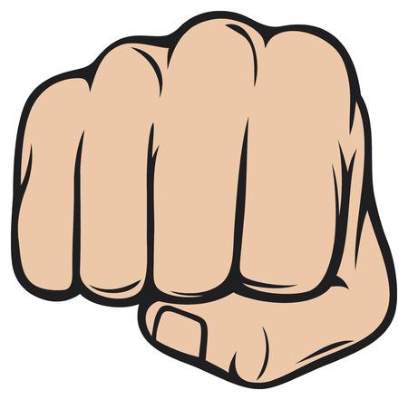 인간의 손에: 주먹 펀칭 인간의 손에 구멍을 뚫는