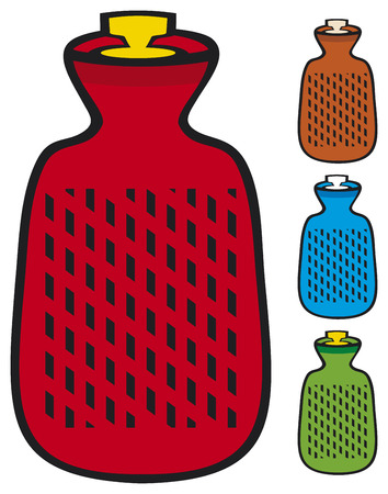 hot water bottle: hot water bottle, hot water bag