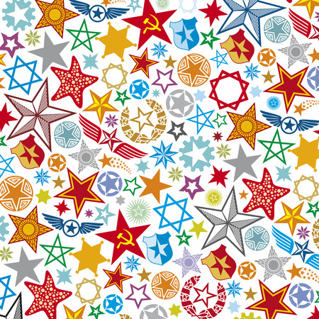seamless stars pattern, star background  Vector