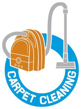 servicio domestico: etiqueta de limpieza signo alfombra servicio de limpieza de alfombras Vectores