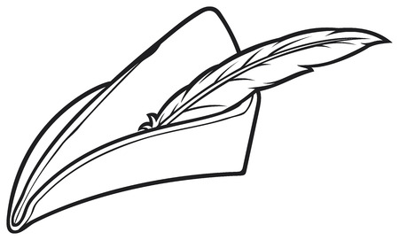 bowman: robin hood hat Illustration