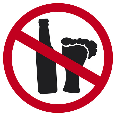 ison: no alcohol sign