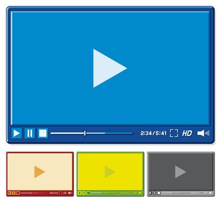 video player for web  video player template  Vector