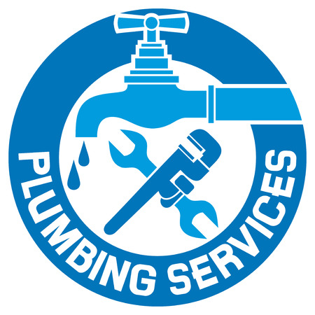 Reparatur Sanitär-Symbol Reparatur Sanitär-und Sanitär-Design für Business-, Reparatur-Sanitär-Label-, Sanitär-Symbol, Sanitär-Symbol, Reparatur-Heizung und Sanitär-Design für Business-Zeichen