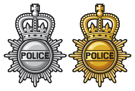 police badge: police badge police sign  police coat of arms  Illustration