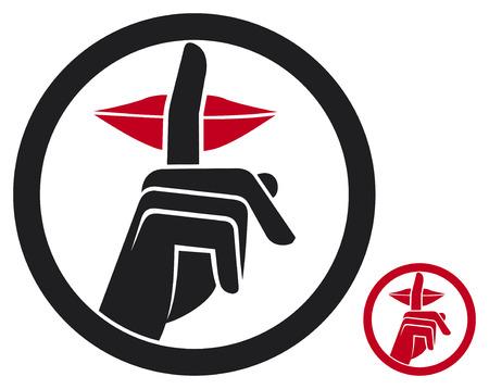 woman making silence sign  silence symbol, no speak sign, hand making silence sign