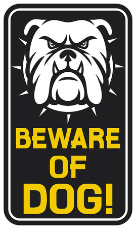beware of dog sign  beware of dog design, beware of dog label  Stock Vector - 28297835