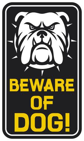 angry dog: cuidado con signo perro guárdese de diseño del perro, cuidado de la etiqueta de perro