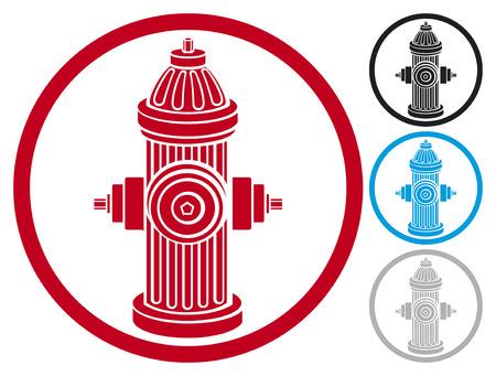 borne fontaine: bouche d'incendie symbole icône du feu de bouche