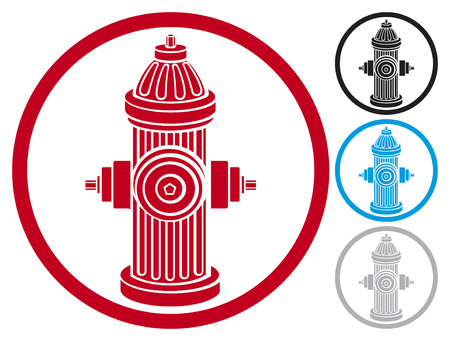 fire plug: fire hydrant symbol  fire hydrant icon  Illustration