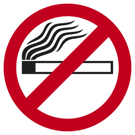 no smoking sign  no smoking icon  Vector
