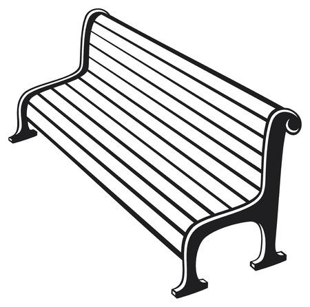 park bench Vector Illustration