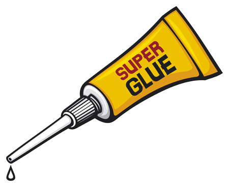 metal tube of super glue vector tube of glue, tube with glue