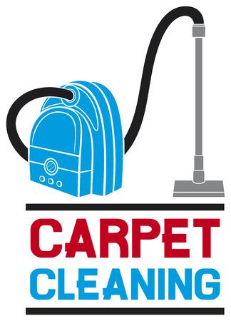 vacuuming: servizio di pulizia di tappeti Vettoriali