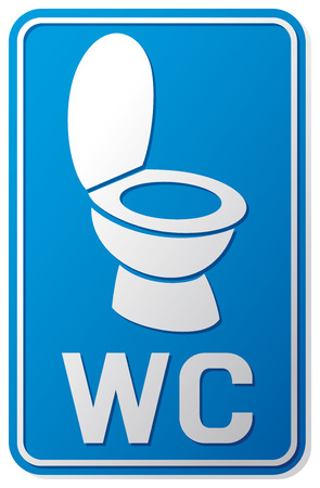 wc sign  wc icon, toilet sign, toilet symbol, toilet bowl icon  Ilustrace