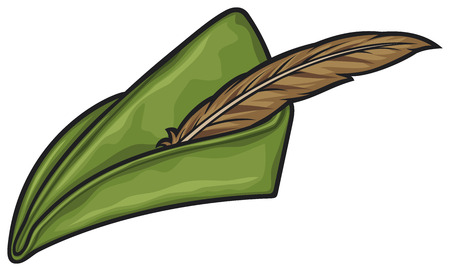 chapeaux: robin hood chapeau Illustration