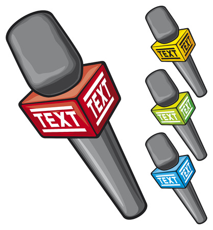 entertaining presentation: microphone illustration