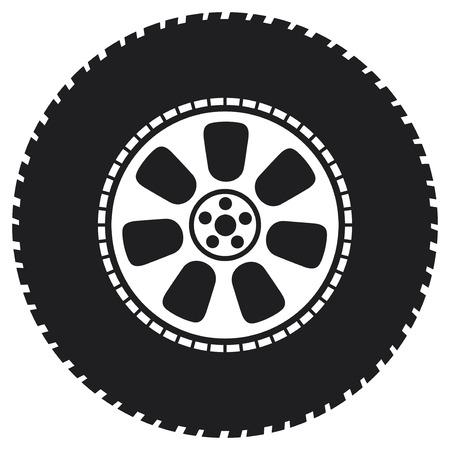 tire change: wheel  vector tyre