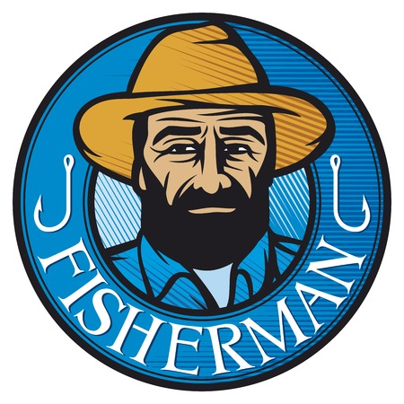 fisherman sign  fisherman design, fisherman label