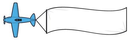 Flugzeug mit dem Banner Flugzeug mit leeren Banner Standard-Bild - 30714149