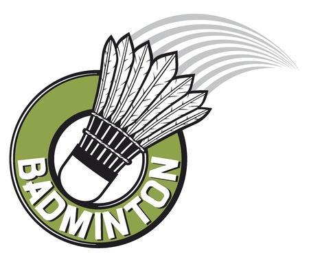 badminton label  badminton sign  Vector