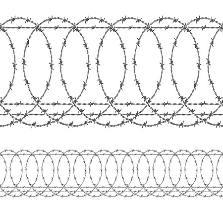 barbed wire  wired fence