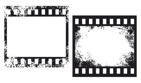 grunge film frames  photo frames, grunge filmstrip  Vector