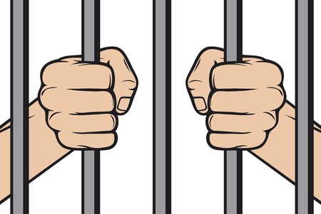 jail: hands holding prison bars  hand behind prison bars, hand in jail