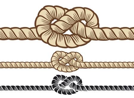 saltar la cuerda: cuerda nudo Vectores