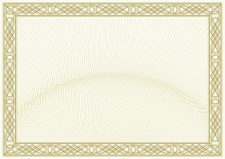 beveiligd document achtergrond guilloche stijl achtergrond, diploma of certificaat ontwerp Stock Illustratie