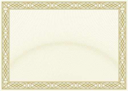 secured document background  guilloche style background, diploma or certificate design  Illustration