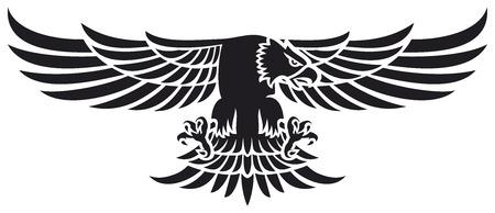 Fliegenden Adler (Adler-Maskottchen) Standard-Bild - 33414238