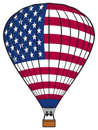 ballooning: Hot air balloon with USA flag American flag hot air balloon hot air balloon with United States of America flag