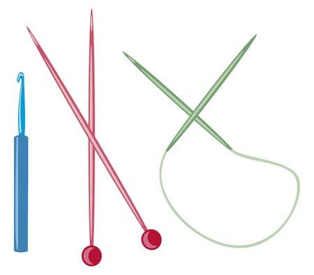 knit: wooden knitting needles