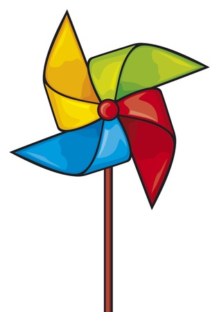 pinwheel toy: pinwheel  (toy windmill propeller)