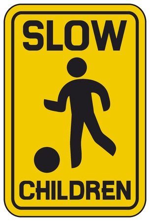 slow: children slow traffic sign