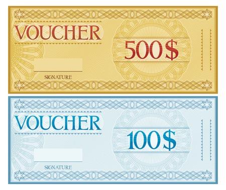 cheque en blanco: diseño bono (voucher plantilla)