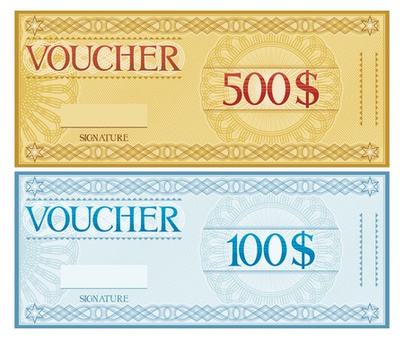 Money Voucher Template. Voucher, Gift Certificate, Coupon, Ticket