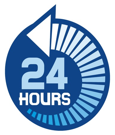 opening hours: 24 hours icon (24 hr sign)