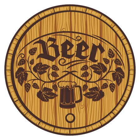 wooden barrel: barrel of beer (wooden barrel for beer)