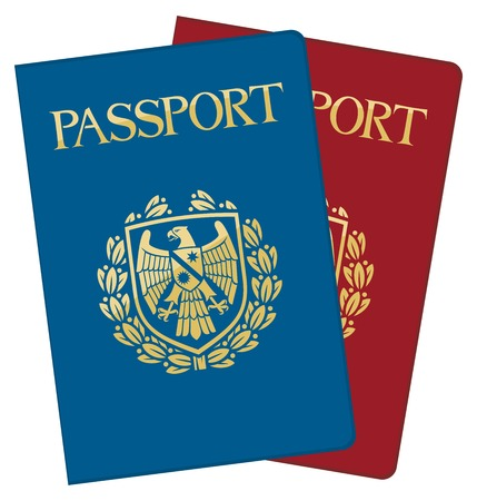 two page spread: vector passports