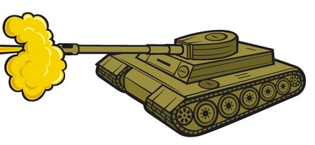 regiment: military tank (tank in action, army tank attack)