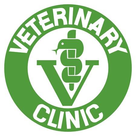 esculapio: s�mbolo de veterinaria cl�nica (icono veterinaria, muestra cl�nica veterinaria, s�mbolo veterinaria caduceo, serpiente caduceo con palo)
