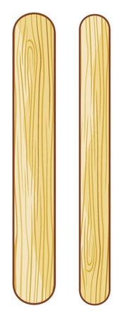 helados con palito: helado de madera se pega palos de polo de hielo