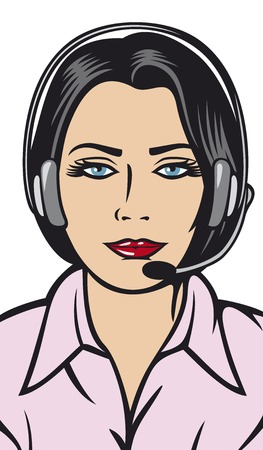 mobile headsets: female helpline operator with headset support phone operator in headset women customer support woman with headset