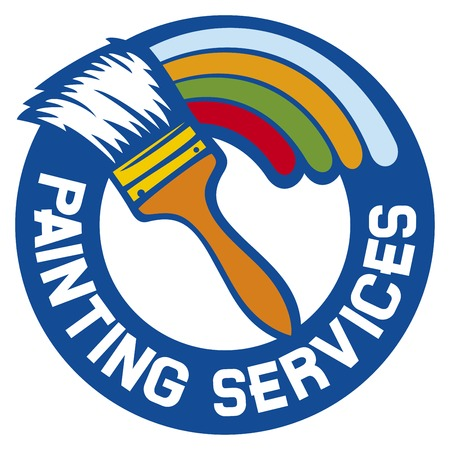 painting services label painting services symbol Vectores